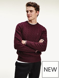 tommy-hilfiger-organic-cotton-cable-knitted-jumper-burgundy