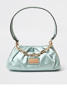 river-island-satin-rouched-chain-detail-underarm-bag-light-green