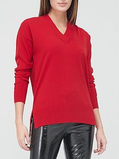 v-by-very-v-neck-relaxed-fit-jumper-red