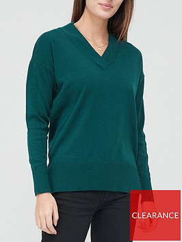 v-by-very-v-neck-relaxed-fit-jumper-green