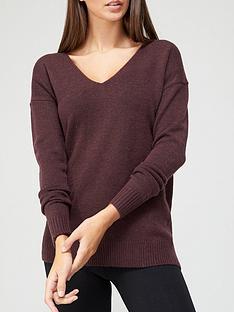 v-by-very-v-neck-seam-detail-jumper-burgundy