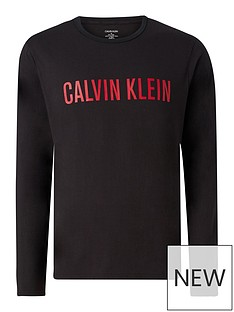 calvin-klein-logo-long-sleevednbsplounge-top-black