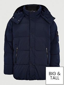 calvin-klein-big-amp-tall-crinkle-nylon-mid-jacket-navy