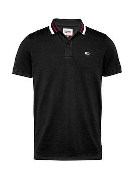 Tommy Jeans Tjm Classics Tipped Stretch Polo Shirt - Black