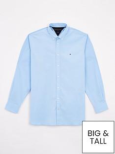tommy-hilfiger-big-amp-tallnbspstretch-poplin-shirt-regatta-blue