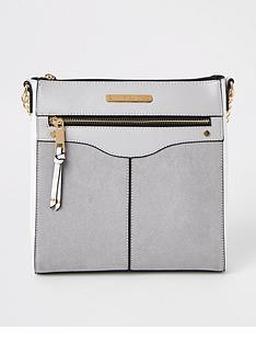 river-island-zip-front-structured-messenger-bag-grey