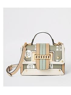river-island-monogram-chain-front-satchel-light-green