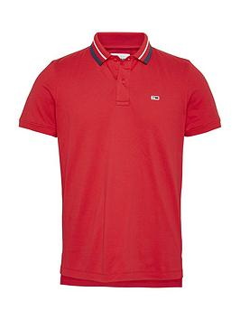 tommy-jeans-tjmnbspclassics-tipped-stretch-polo-shirt-rednbsp