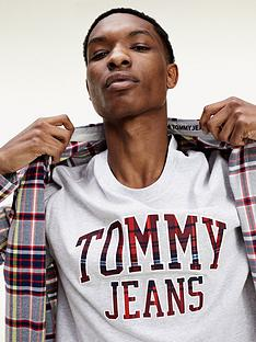 tommy-jeans-tjmnbspplaid-collegiate-t-shirt-whitenbsp