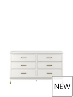 cosmoliving-westerleigh-6-drawer-dressing-table-white