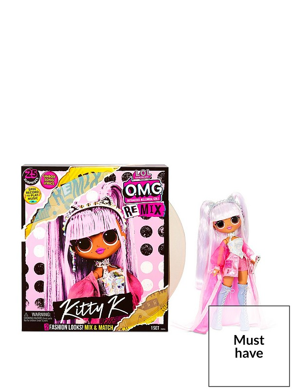 L O L Surprise O M G Remix Kitty K Fashion Doll 25 Surprises With Music Very Co Uk