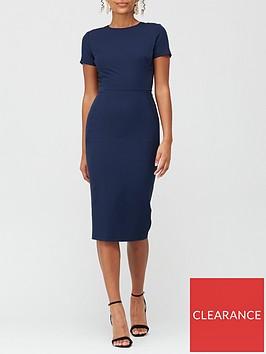 v-by-very-confident-curvenbspround-neck-midi-dress-navy
