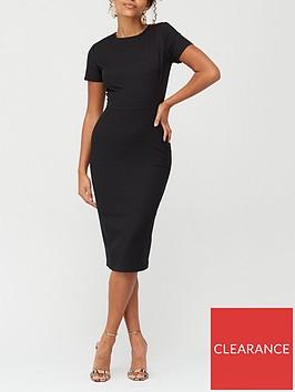 v-by-very-confident-curve-round-neck-midi-dress-black
