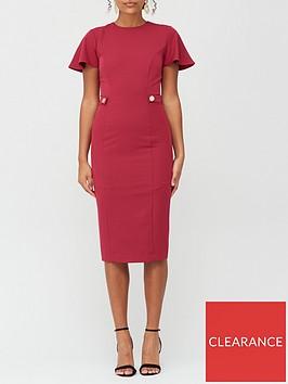 v-by-very-confident-curvenbspbutton-side-midi-dress-burgundy