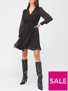 v-by-very-long-sleevenbspwrap-mini-dress-black