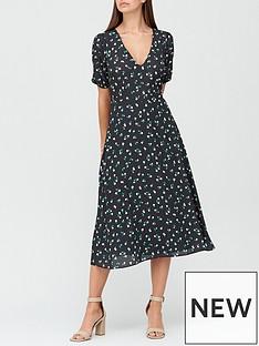 v-by-very-v-neck-tie-back-midi-dress-black-floral