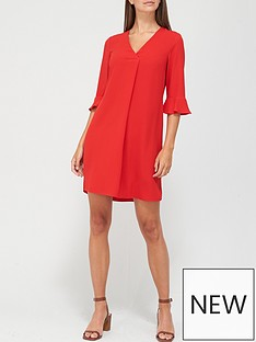 v-by-very-notch-neck-dress-red