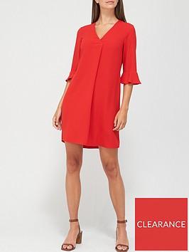 v-by-very-notch-neck-dress-red