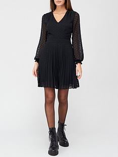v-by-very-v-neck-pleated-swing-dress-spot