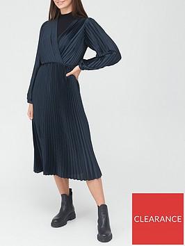 v-by-very-wrap-satin-pleated-midi-dress-navy