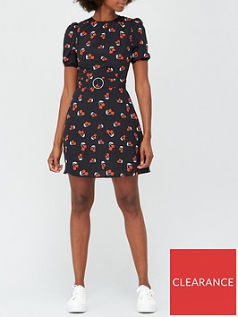v-by-very-round-neck-belted-mini-dress-cherry-print