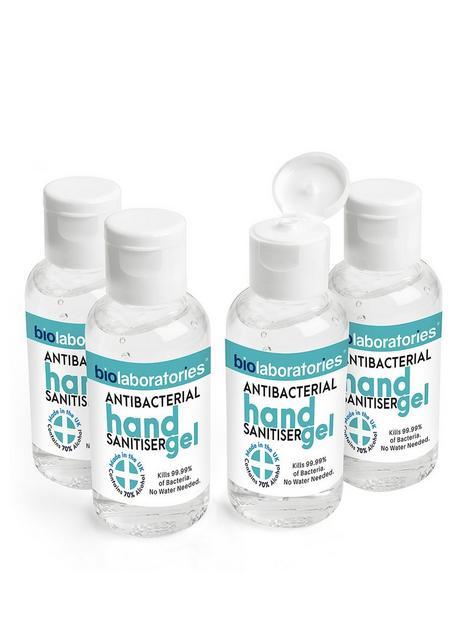 bio-laboratories-4-x-clear-antibacterial-hand-sanitiser-gel-50ml
