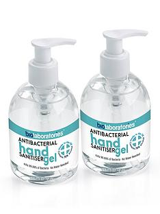bio-laboratories-2-x-clear-antibacterial-hand-sanitiser-gel-250ml