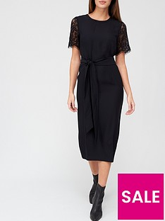 v-by-very-lace-sleeve-midi-dress-black