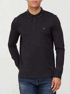 calvin-klein-liquid-touch-long-sleeve-polo-shirt-black