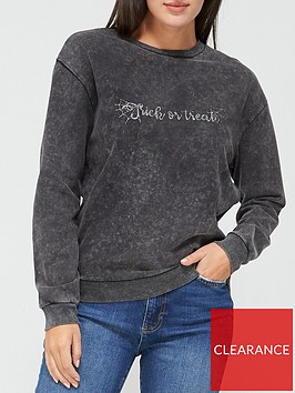 v-by-very-trick-or-treat-washed-sweat-top-grey