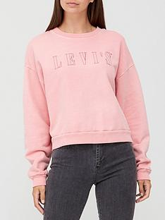 levis-graphic-diana-crew-neck-sweat-top-pink