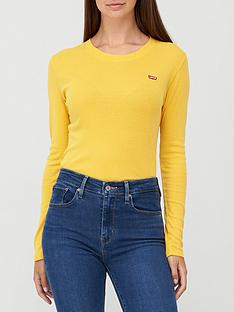 levis-long-sleeve-baby-tee-yellow