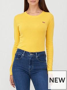 levis-long-sleeve-baby-tee-yellow