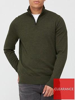 calvin-klein-superior-wool-zip-mock-knitted-jumper-khaki