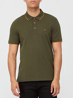calvin-klein-stretch-pique-tipping-polo-shirt-khaki