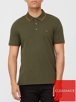 calvin-klein-stretch-pique-tipping-polo-shirt-khaki
