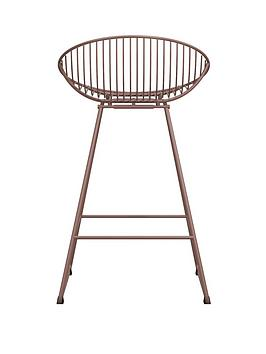 cosmoliving-by-cosmopolitan-ellis-wire-bar-stool--nbspblush-pink