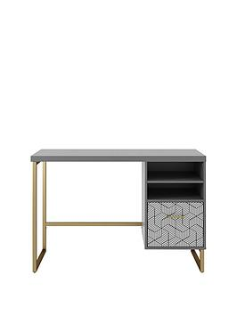 cosmoliving-by-cosmopolitan-scarlett-single-pedestal-desk-graphite-grey