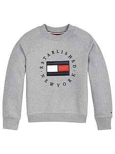 tommy-hilfiger-girls-heritage-logo-crew-sweat-grey-marl