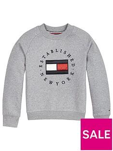 tommy-hilfiger-girls-heritage-logo-crew-sweat-grey-marl