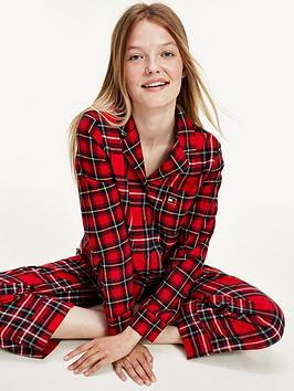 Tommy Hilfiger Check Flannel Pj Set - Red