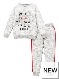 mini-v-by-very-boys-2-piece-marl-truck-print-sweatshirt-and-jog-set-grey