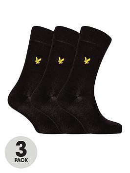 lyle-scott-angus-3-pack-sock-black