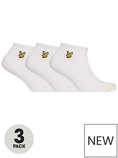 lyle-scott-ross-3-pack-trainer-sock-white