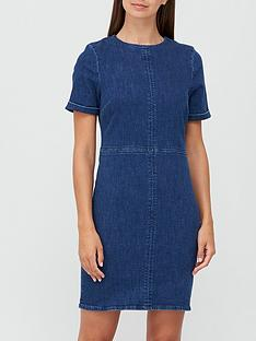 v-by-very-short-sleeve-denim-t-shirt-dress-dark-wash