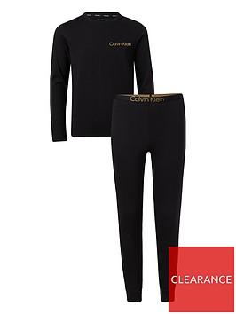 calvin-klein-boys-metallic-logo-pyjama-black
