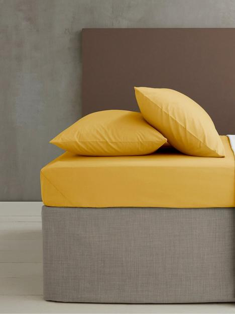 catherine-lansfield-easy-ironnbsppercale-extra-deep-fitted-sheet-ndash-ochre