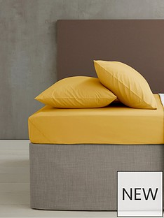 catherine-lansfield-non-ironnbspdouble-extra-deep-fitted-sheet-ndash-ochre