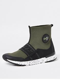river-island-boys-sports-high-top-sock-khaki