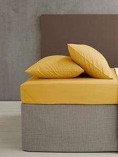 catherine-lansfield-easy-iron-percale-fitted-sheet-ndash-ochre